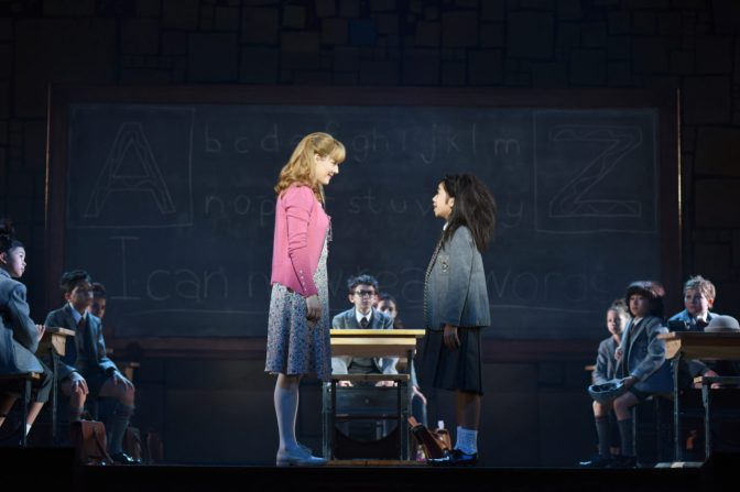 Matilda-Jennifer Bowles (Miss Honey) and Gabby Gutierrez (Matilda)